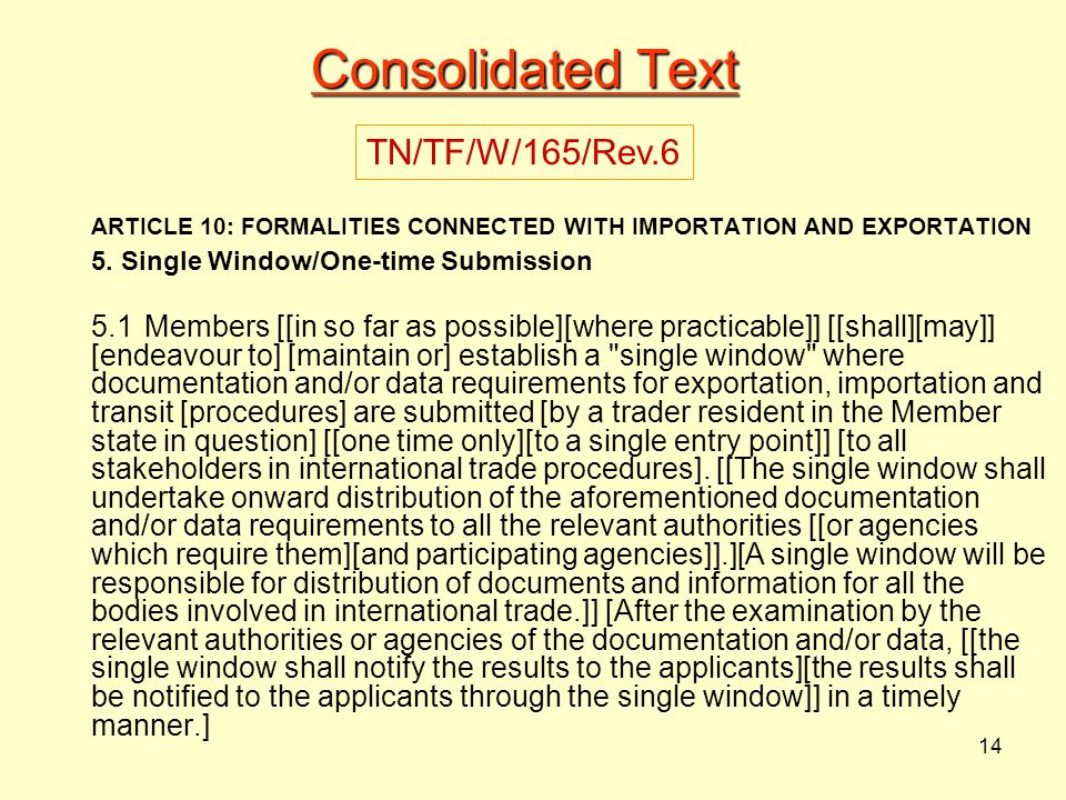 Consolidated Text TN/TF/W/165/Rev.6