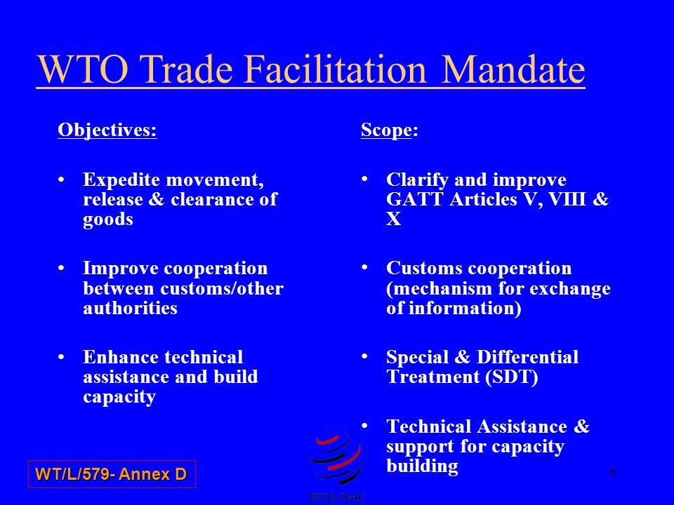 WTO Trade Facilitation Mandate