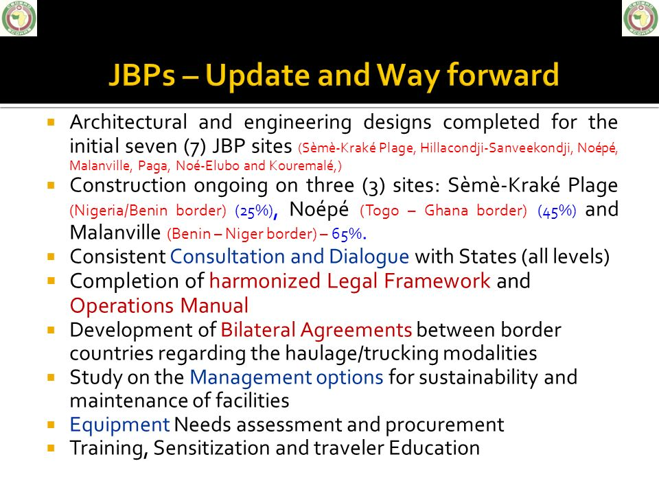 JOINT BORDER POST PROJECTS