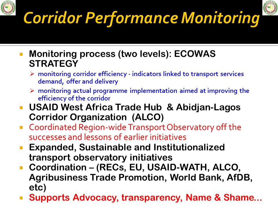 Corridor Performance Monitoring