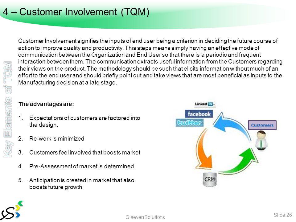 Customer involvement