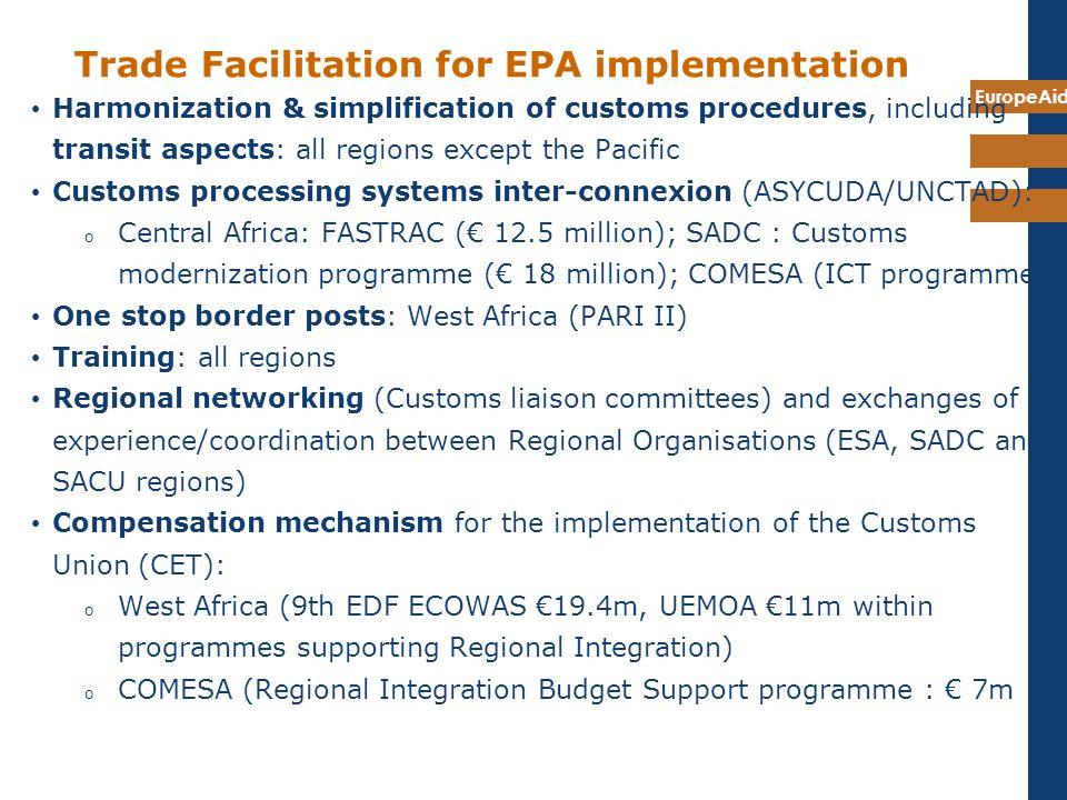 Trade Facilitation for EPA implementation
