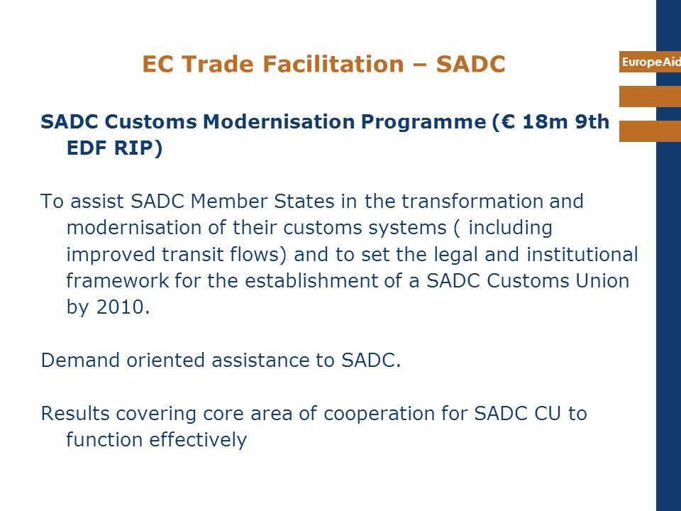EC Trade Facilitation – SADC