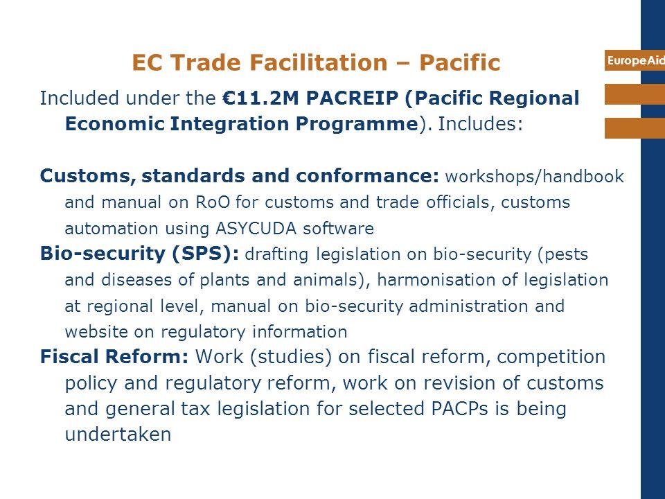 EC Trade Facilitation – Pacific