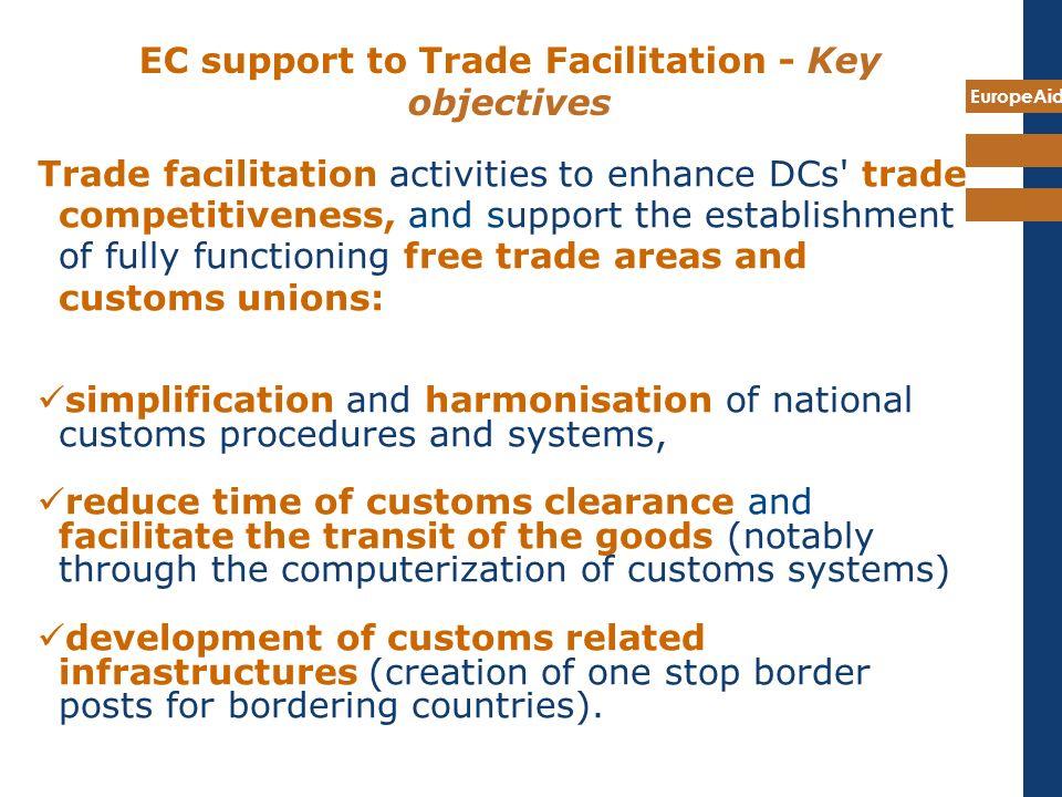EC support to Trade Facilitation - Key objectives