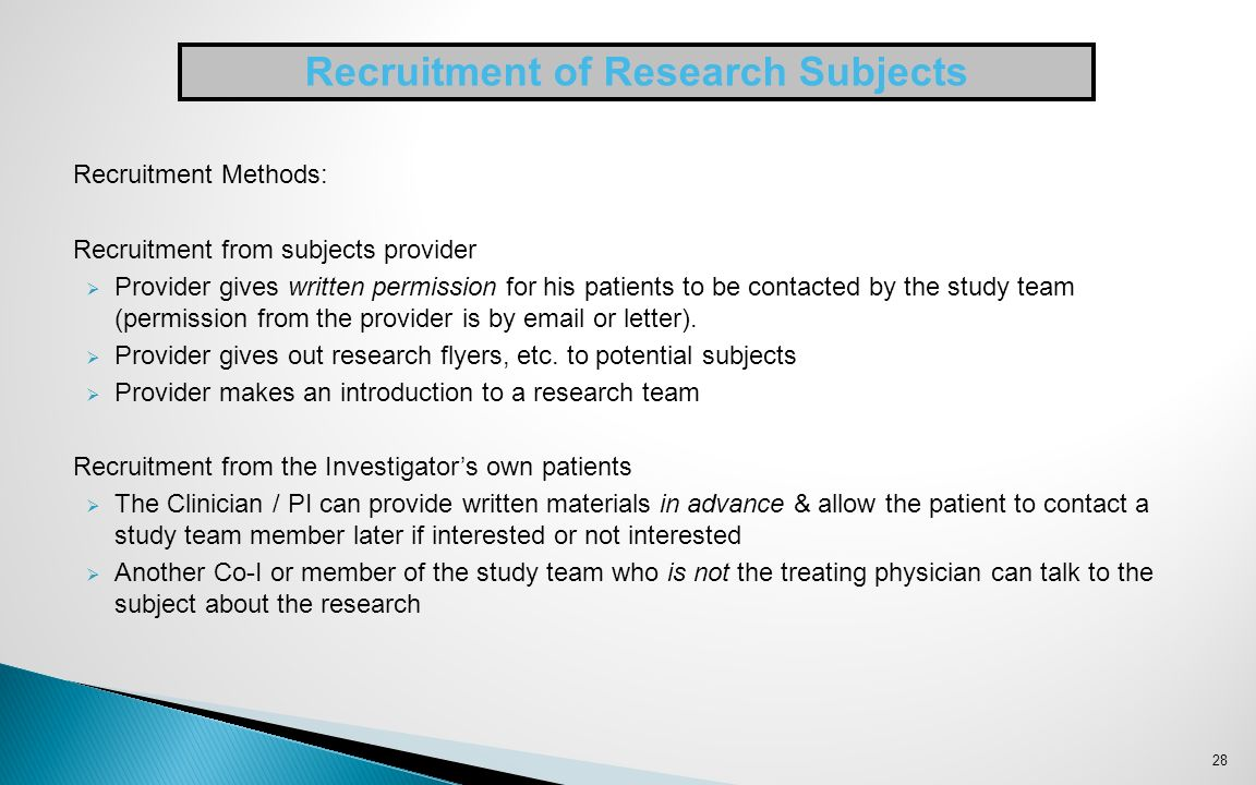 Recruiting Healthy Volunteers for Research Participation ...