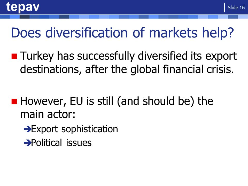 Does diversification of markets help