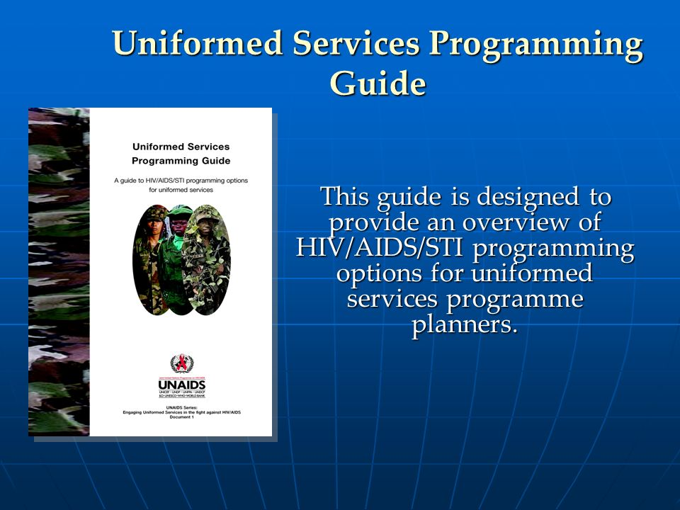Uniformed Services Programming Guide