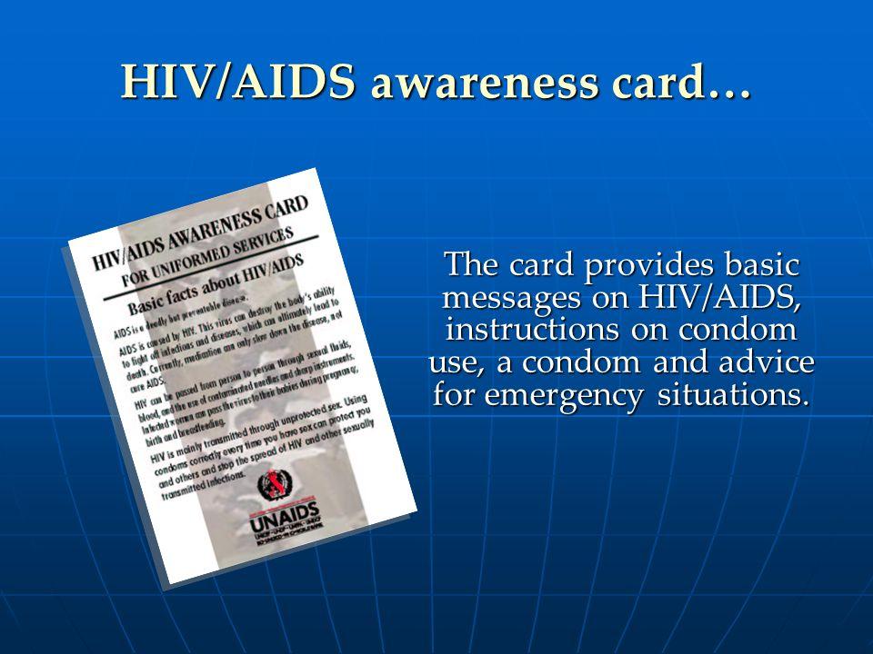 HIV/AIDS awareness card…