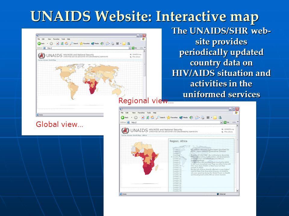UNAIDS Website: Interactive map