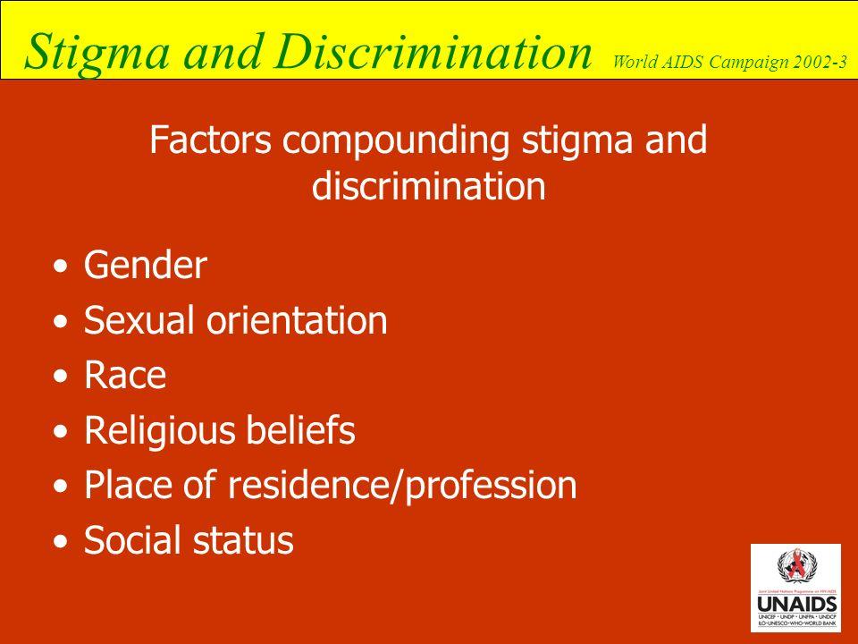 Factors compounding stigma and discrimination