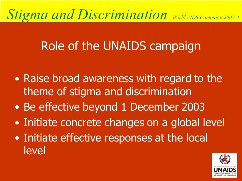 Role of the UNAIDS campaign