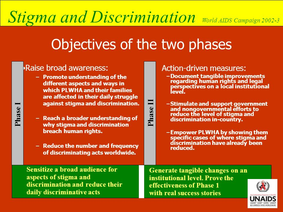 Objectives of the two phases