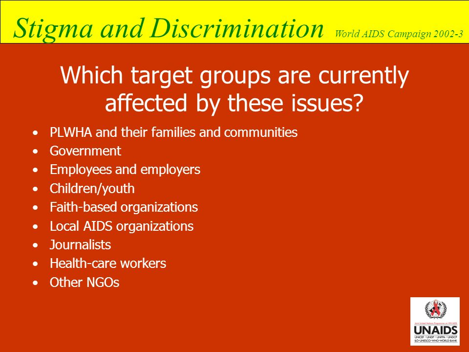 Which target groups are currently affected by these issues