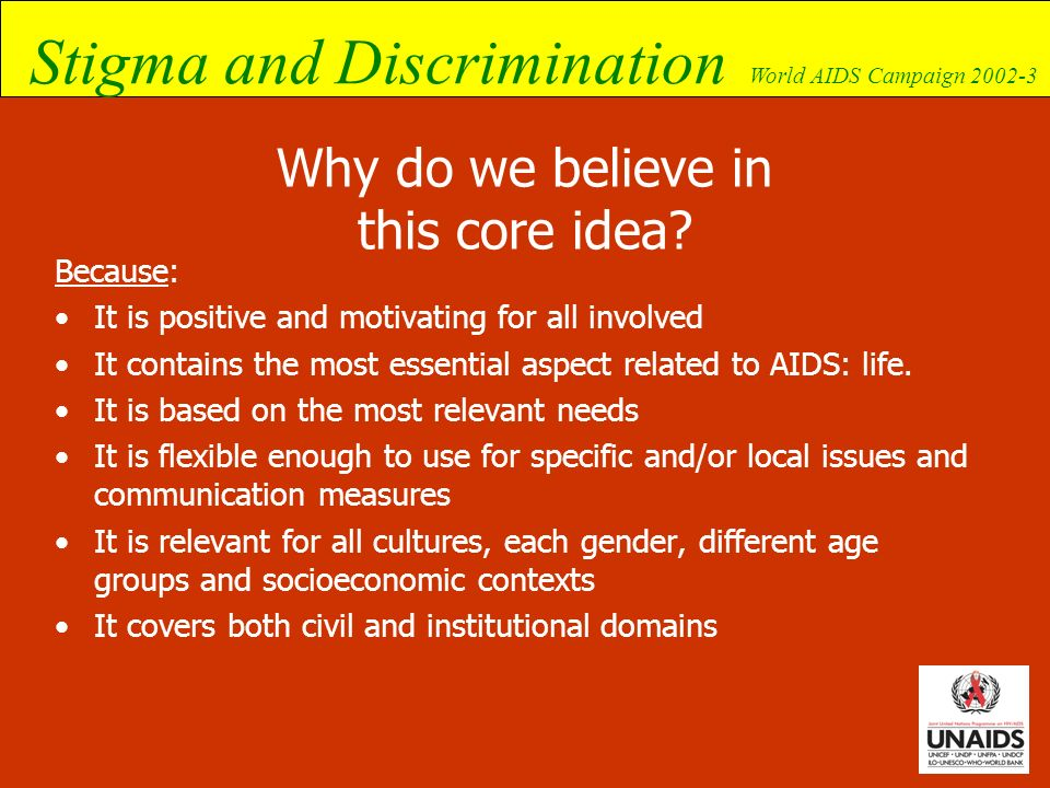 Why do we believe in this core idea