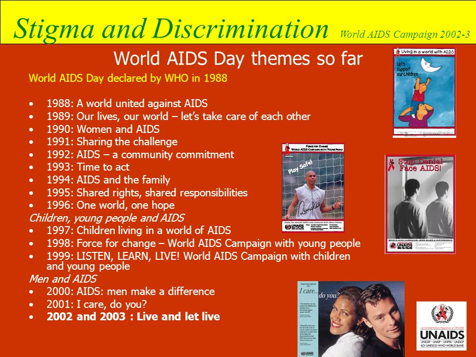 World AIDS Day themes so far