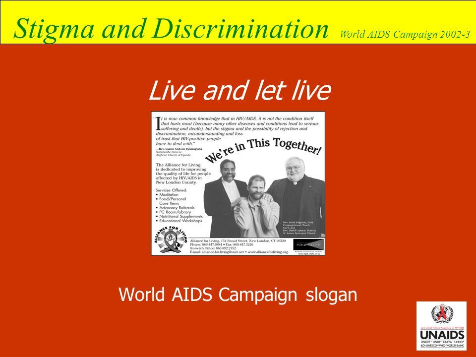World AIDS Campaign slogan