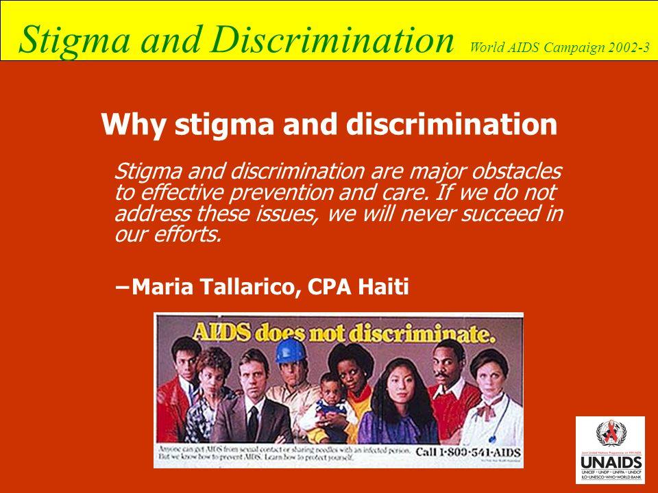 Why stigma and discrimination