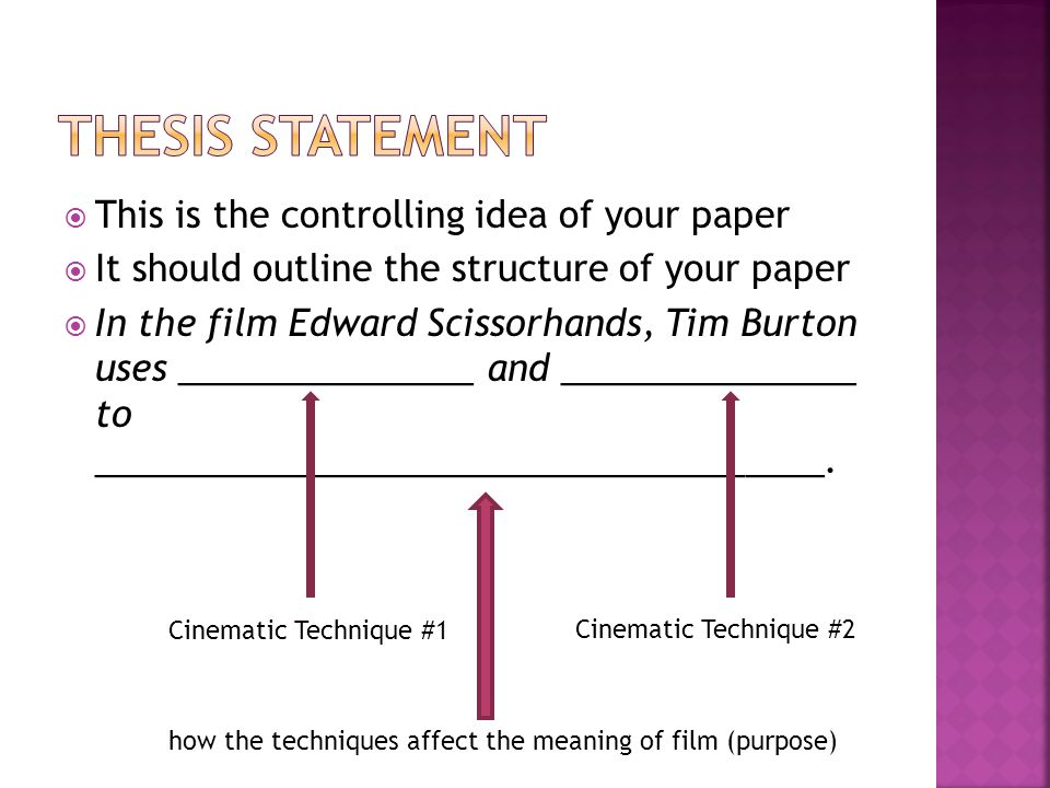 controlling purpose vs thesis Derive a main point from topic   you can then turn this controlling idea into a purpose statement about what  you can turn a purpose statement into a thesis.
