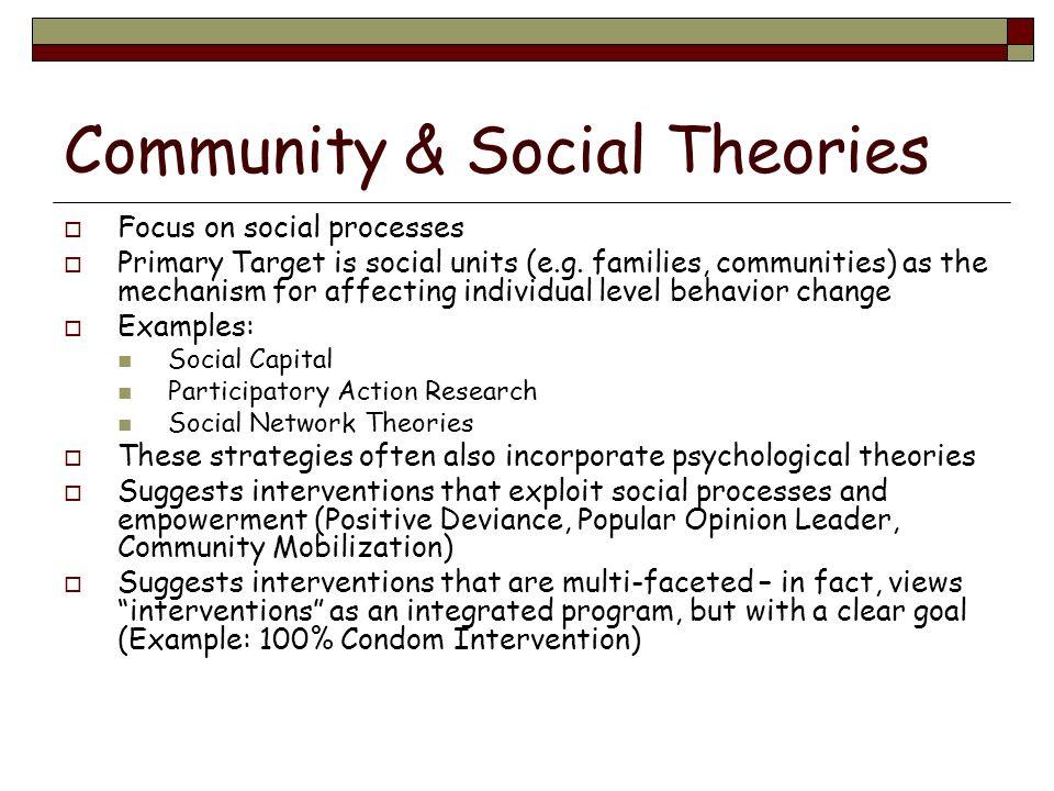 Community & Social Theories