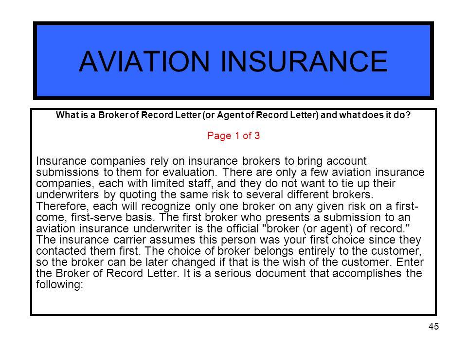 Insurance broker of record