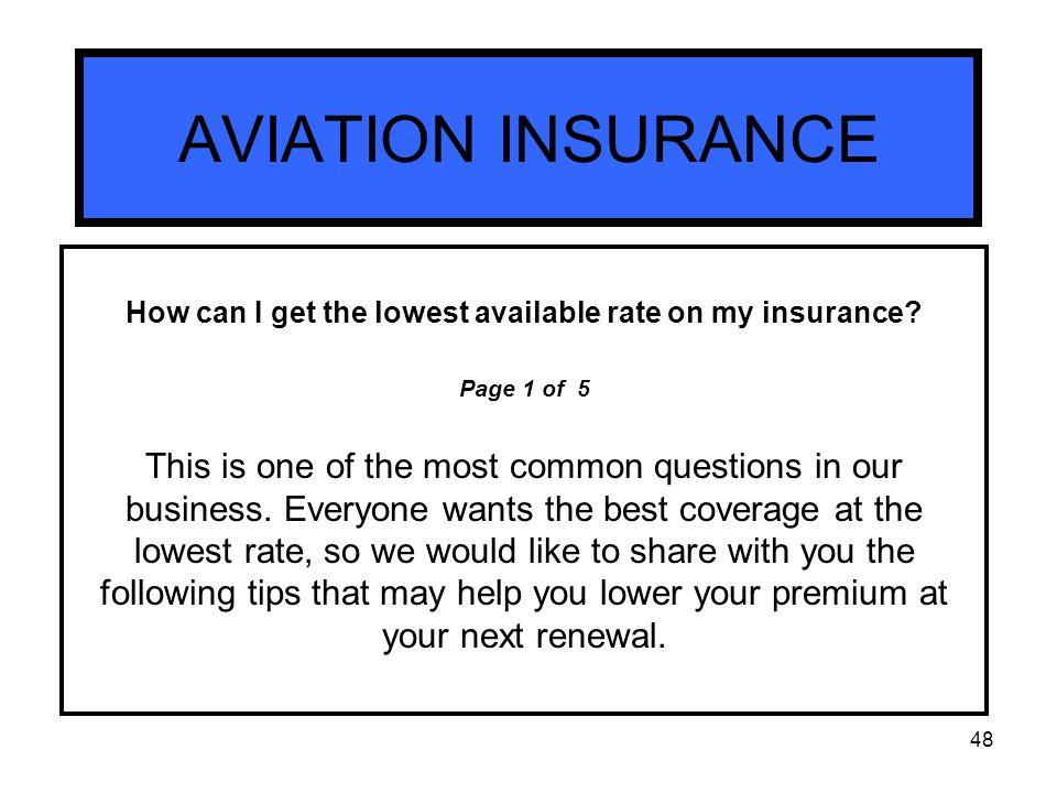 Model AVIATION INSURANCE Blais Aviation Insurance Services  Ppt