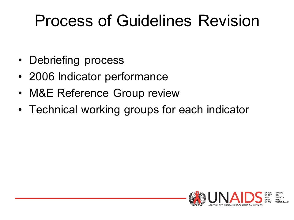 PROCESS OF GUIDELINES REVISION Process of Guidelines Revision