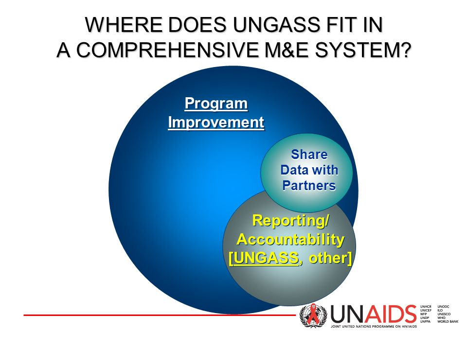 WHERE DOES UNGASS FIT IN A COMPREHENSIVE M&E SYSTEM