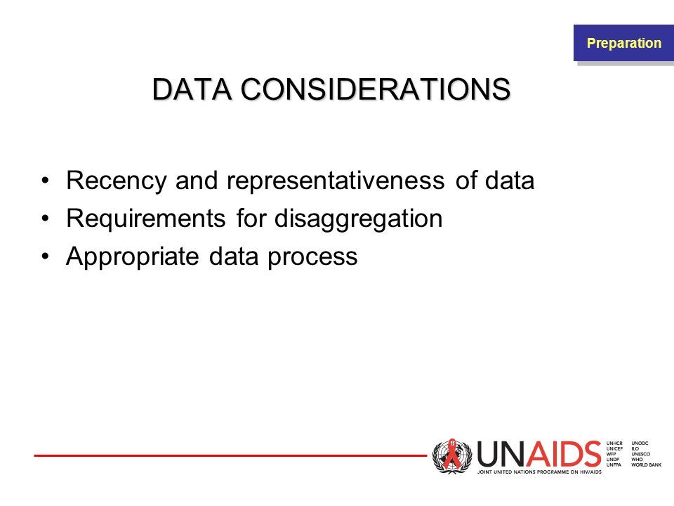 DATA CONSIDERATIONS Recency and representativeness of data
