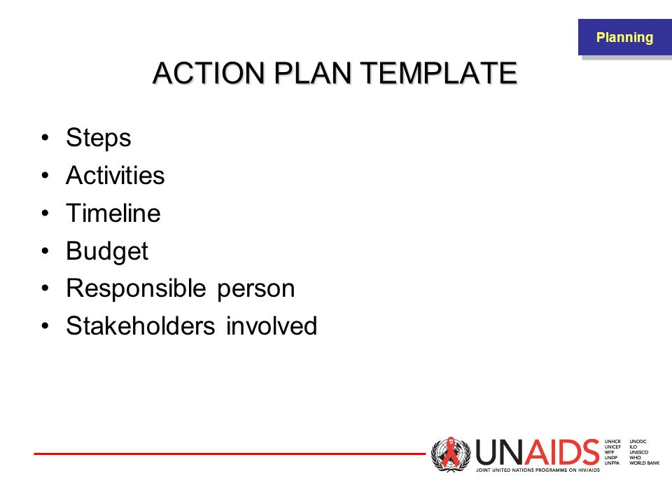 ACTION PLAN TEMPLATE Steps Activities Timeline Budget