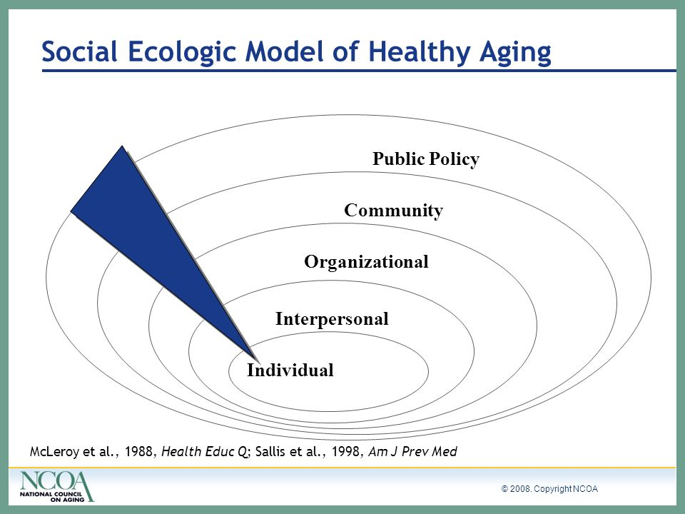 Social Ecologic Model of Healthy Aging