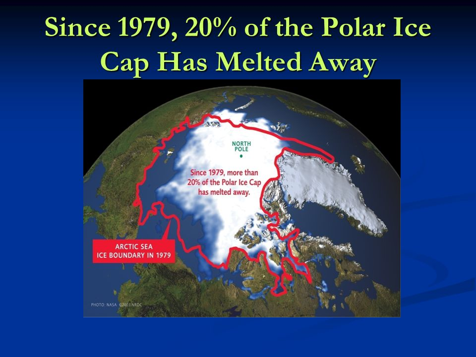 Since 1979, 20% of the Polar Ice Cap Has Melted Away
