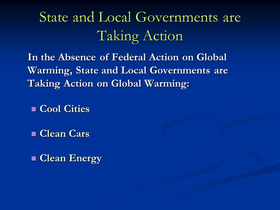 State and Local Governments are Taking Action