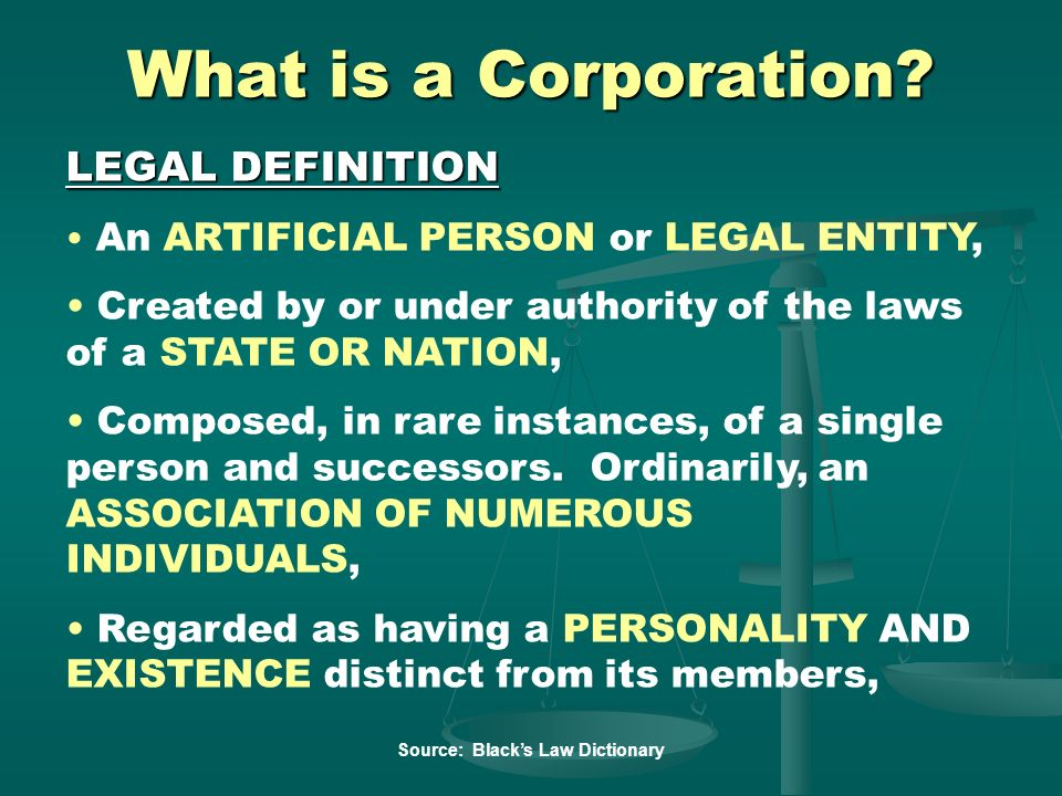 What is a Corporation LEGAL DEFINITION