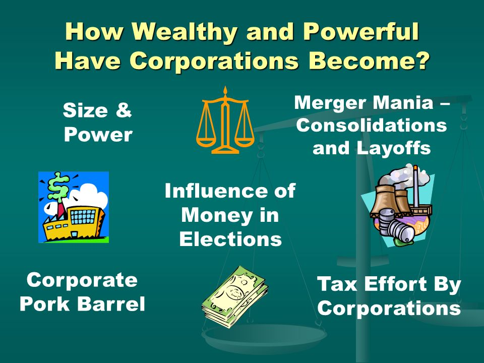 How Wealthy and Powerful Have Corporations Become