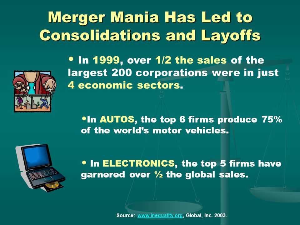 Merger Mania Has Led to Consolidations and Layoffs