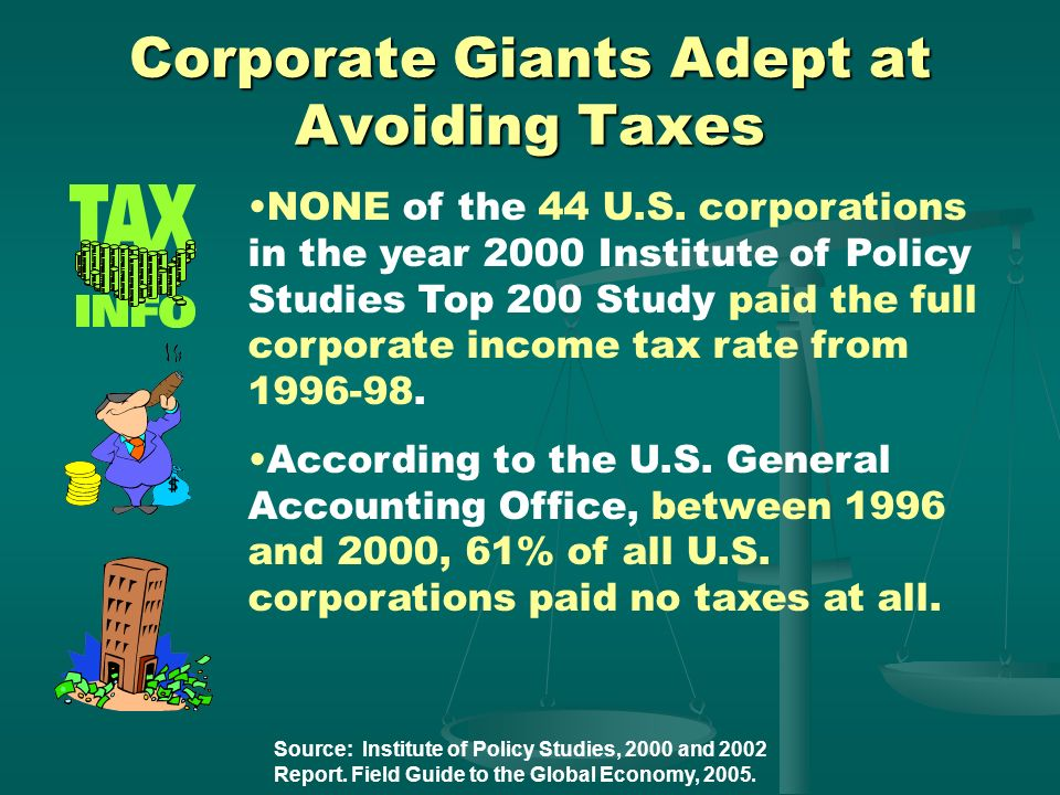 Corporate Giants Adept at Avoiding Taxes