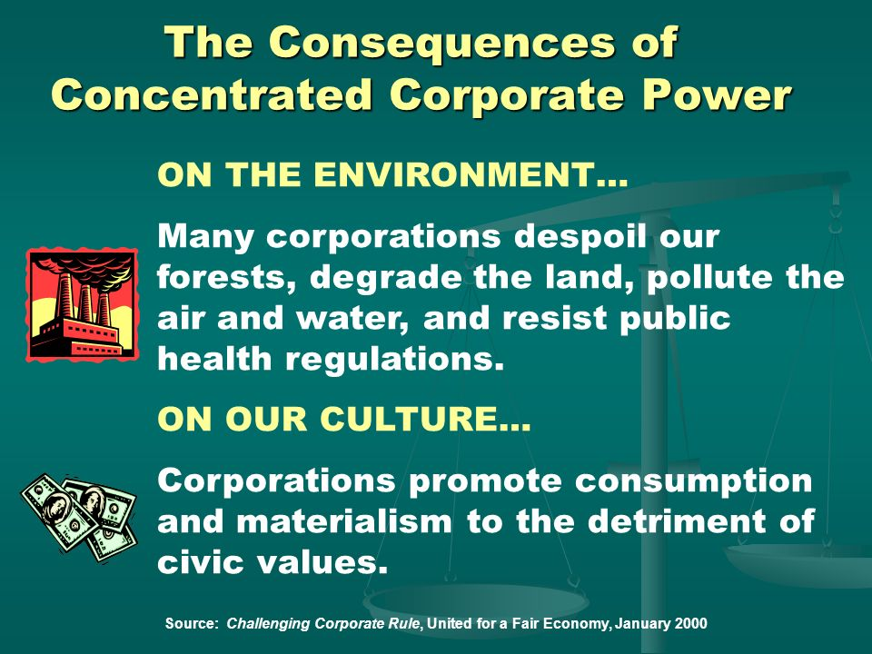 The Consequences of Concentrated Corporate Power