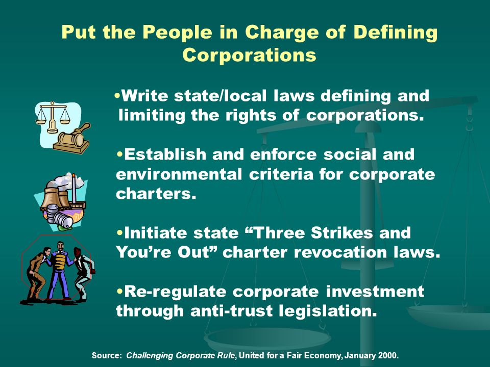Put the People in Charge of Defining Corporations