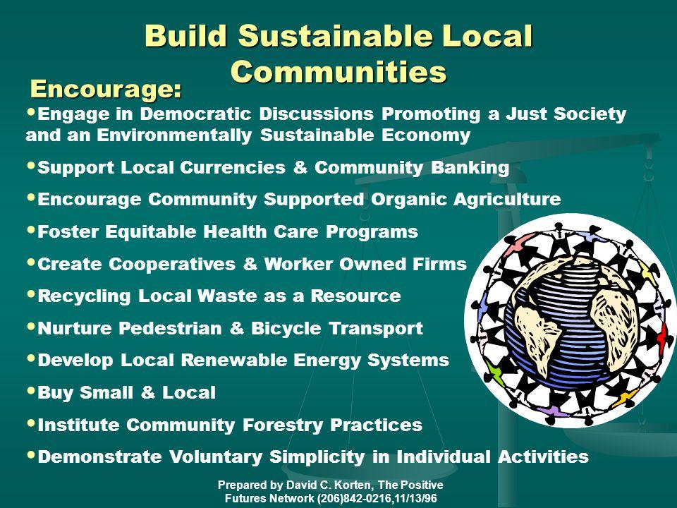 Build Sustainable Local Communities