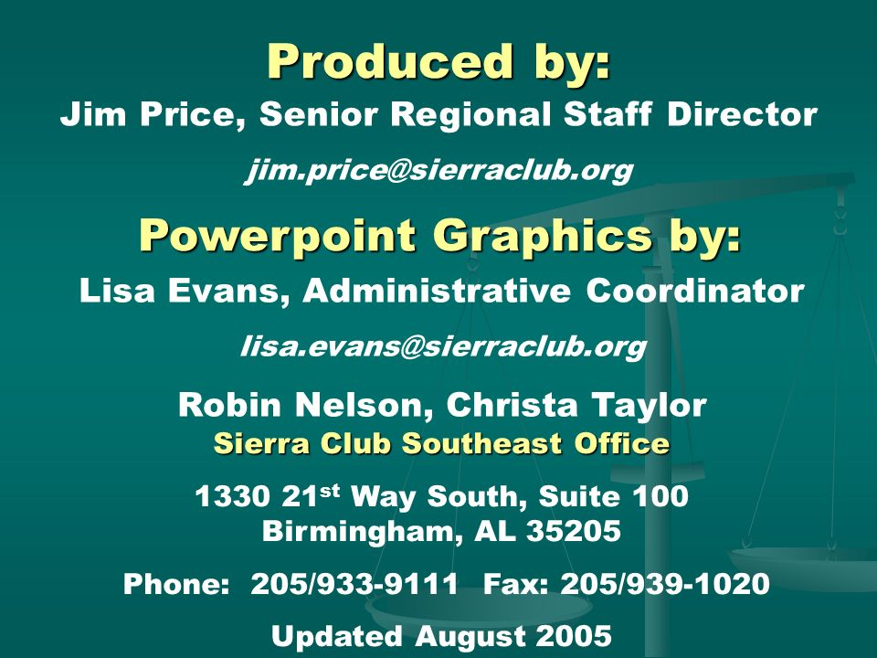 Produced by: Powerpoint Graphics by: