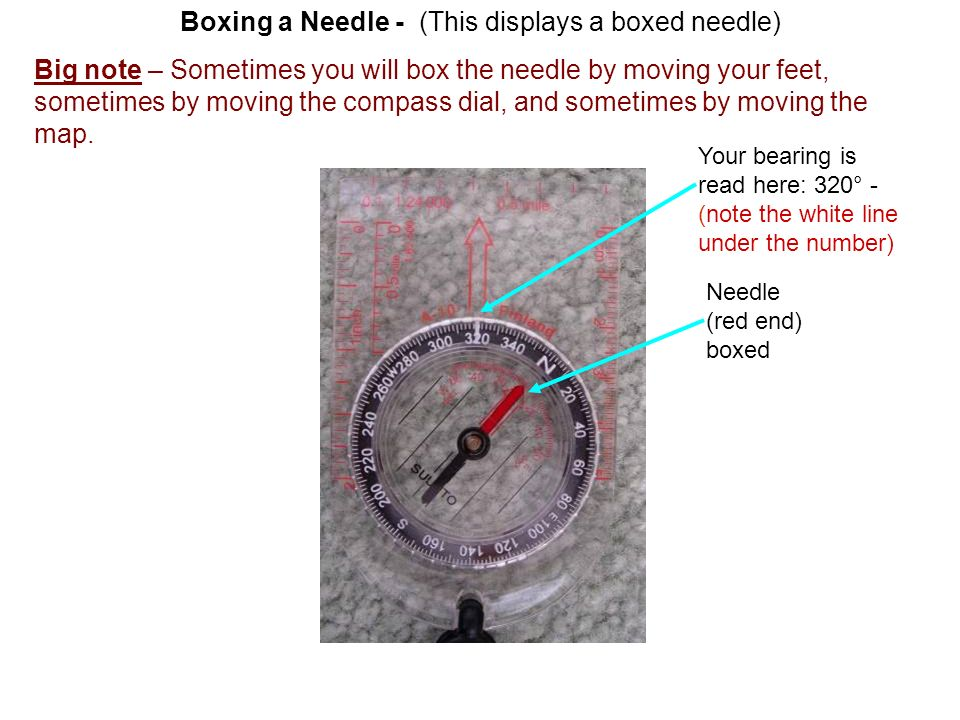 Boxing a Needle - (This displays a boxed needle)