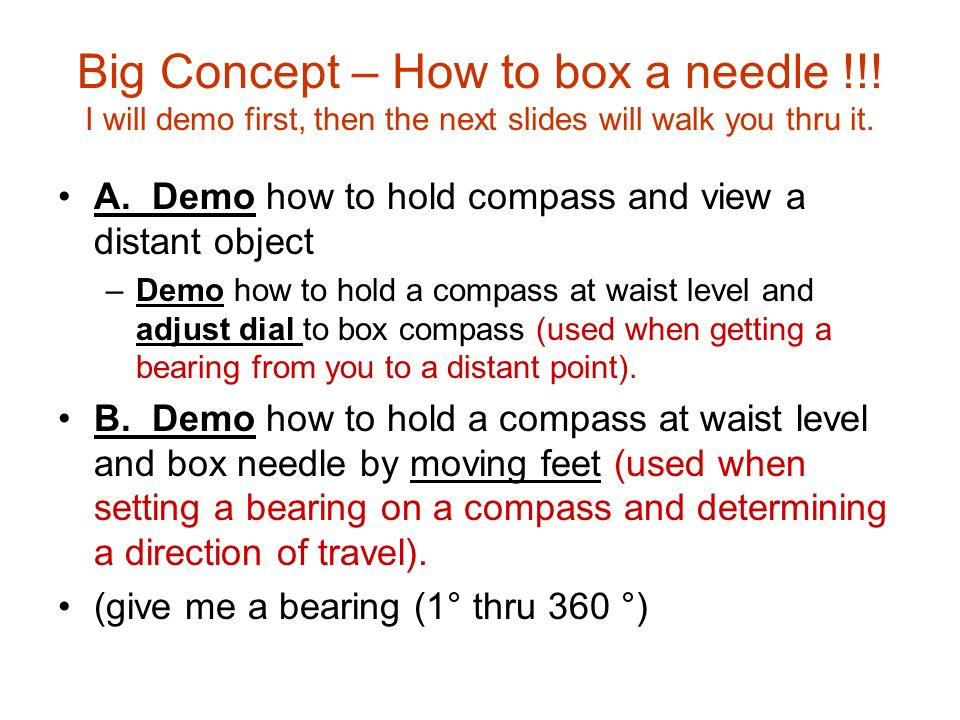 Big Concept – How to box a needle