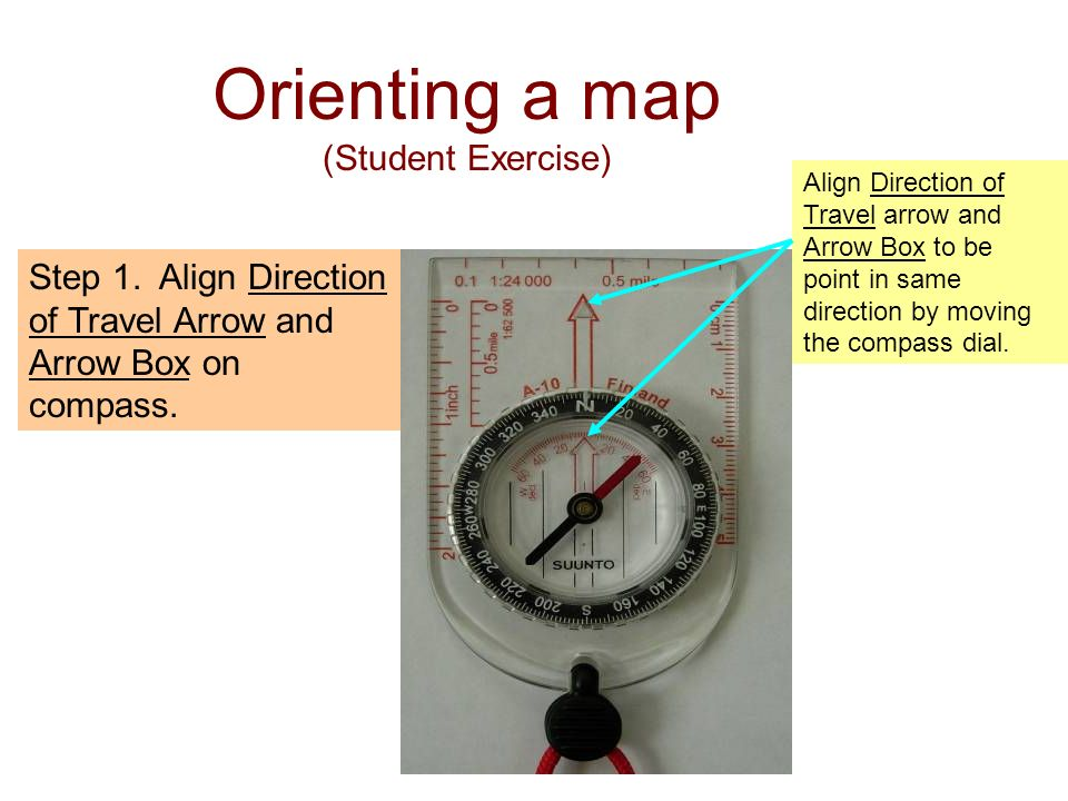 Orienting a map (Student Exercise)