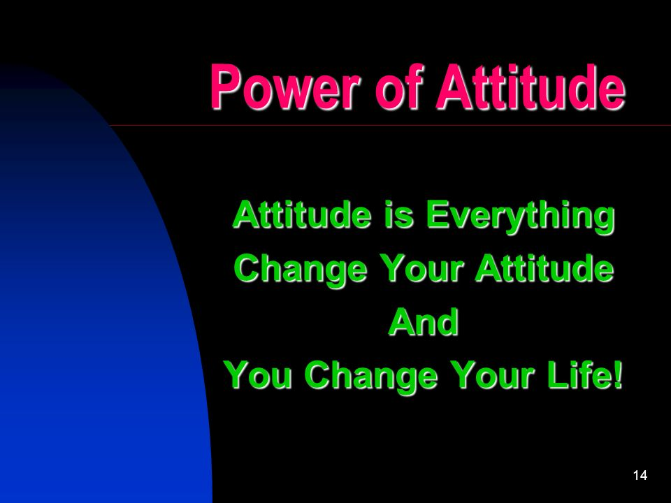 The Power of Positive Thinking, Psychology and Attitude