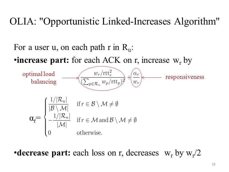 OLIA: Opportunistic Linked-Increases Algorithm