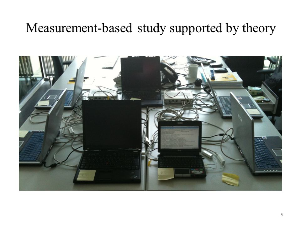 Measurement-based study supported by theory