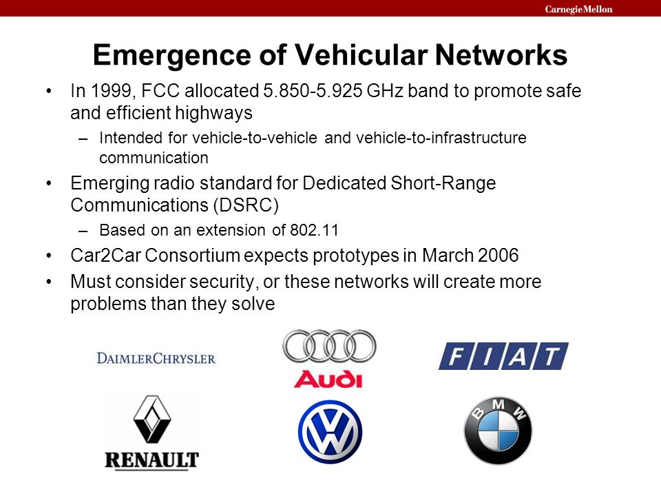 Emergence of Vehicular Networks