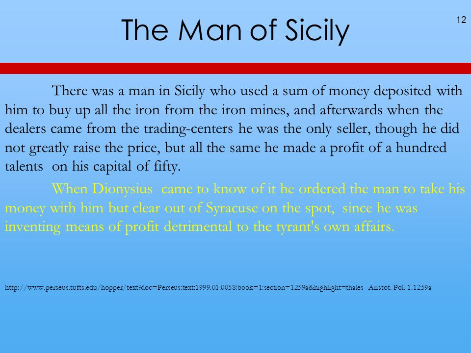 The Man of Sicily