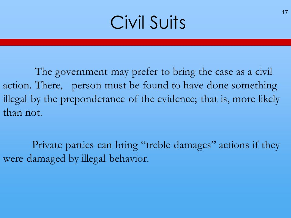 Civil Suits